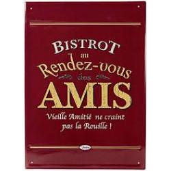 "Pancarte métal ""Bistrot des..."