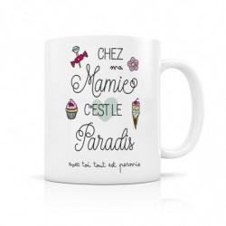 """Mug """" Chez ma  Mamie c'est..."""