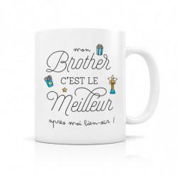 "Mug ""Mon Brother c'est le..."