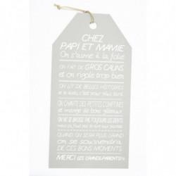 """Message étiquette """"Chez..."""